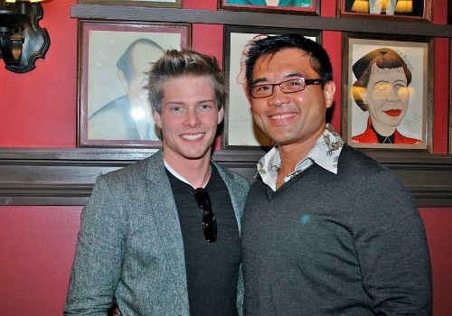 Randy Gener with Hunter Parrish