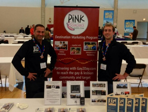 Gay2Day / Pink Banana Media booth at the IGLTA Gay Travel Expo in Chicago - May 2013
