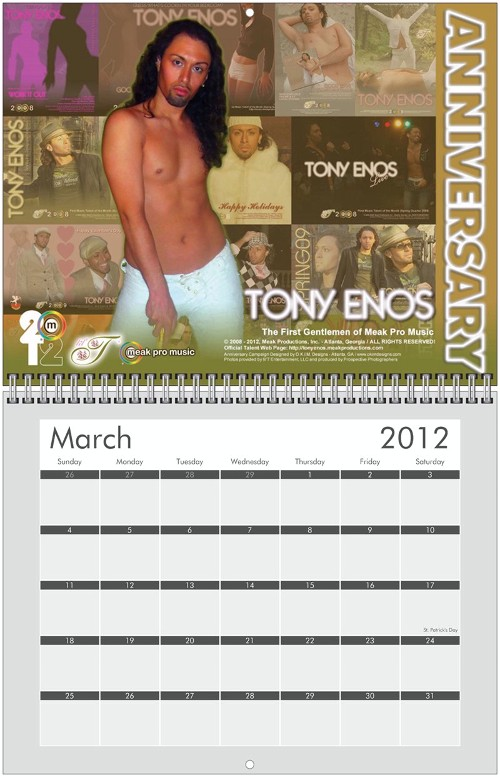 Tony Enos Anninversary - March