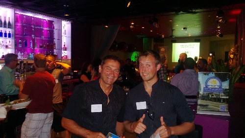 Reception before presenting our #LGBTBiz Social Media Marketing presentation in Fort Lauderdale - Aug 6, 2013 @ Dapur